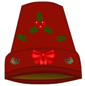 decorate the terracotta pot with christmas symbols