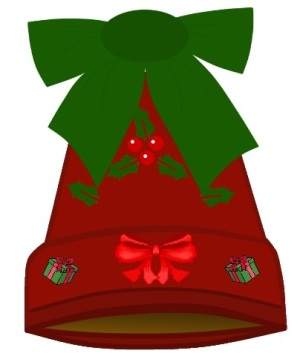 add a lovely green bow to your new christmas bell