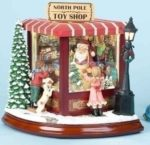 Animated Musical Santa's Toy Shop