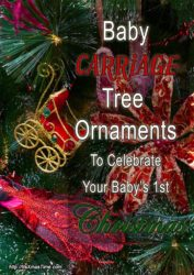 Baby Carriage Ornaments for Christmas trees