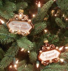 Coffee Sign Christmas Tree Ornaments