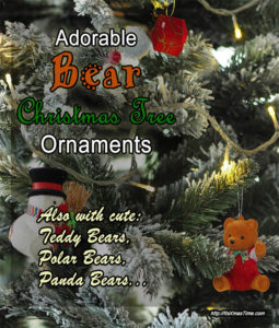 teddy bear and bear tree ornaments for christmas trees
