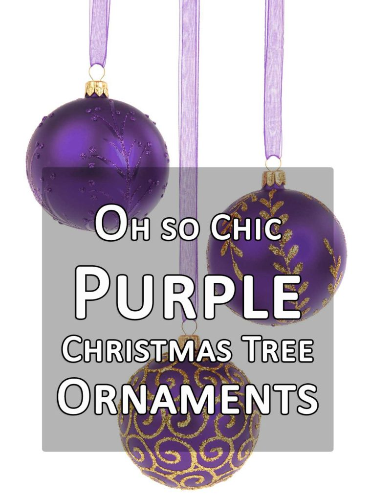 oh so chic purple christmas tree ornaments