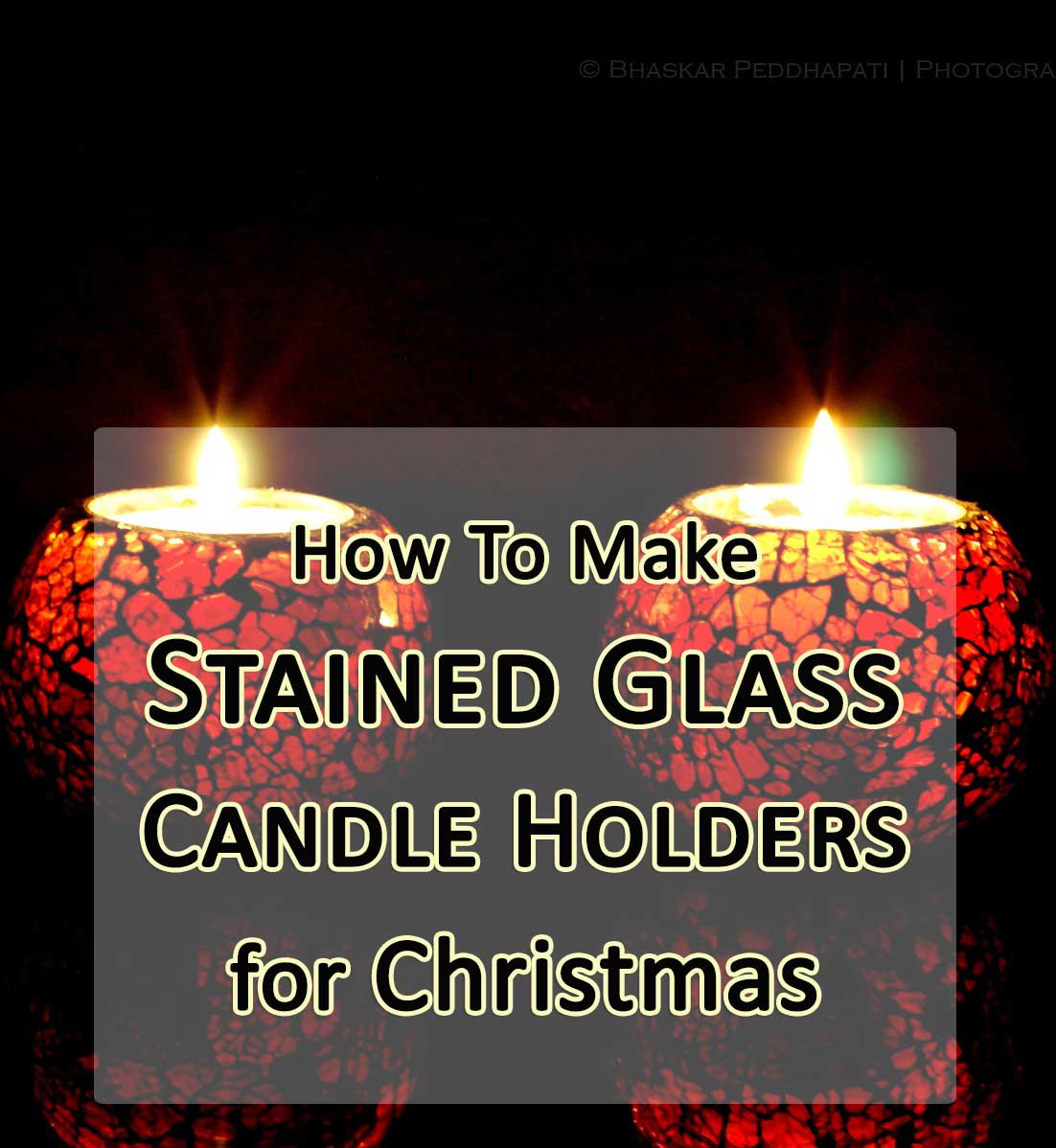 how to make stained glass candle holders for christmas
