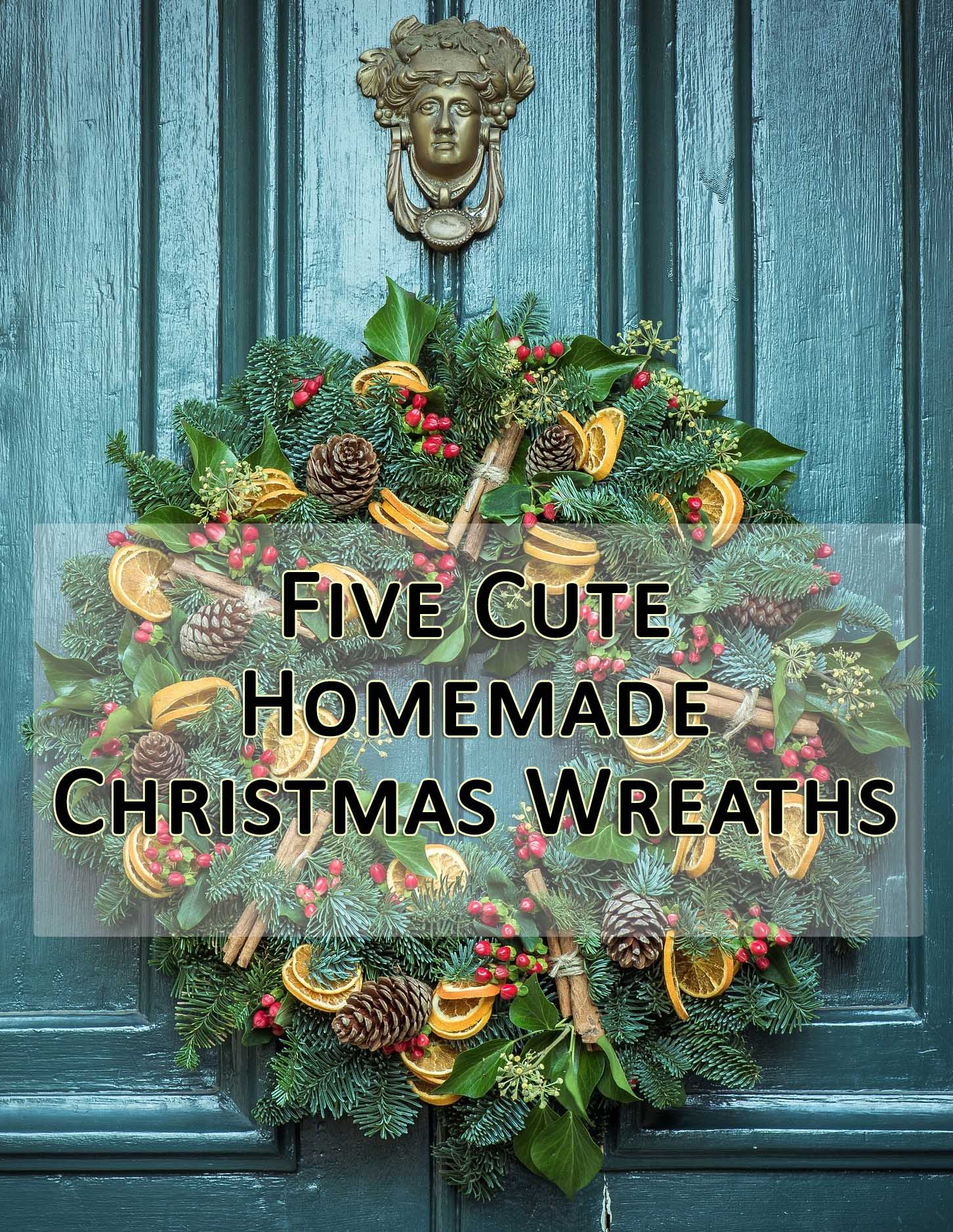 5 cute homemade christmas wreaths - Cute Homemade Christmas Decorations