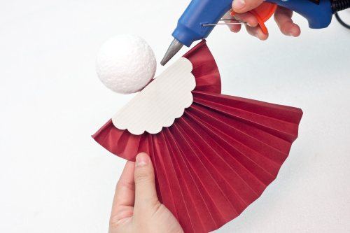 how to make a christmas tree angel ornament