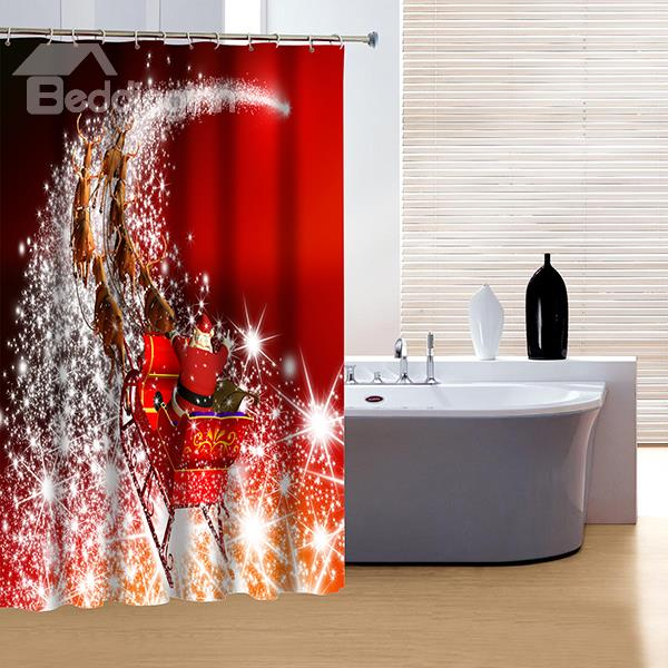 beautiful christmas shower curtains