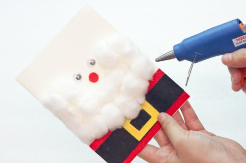 how to make a 3D santa claus greeting card - 14