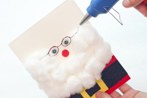 how to make a 3D santa claus greeting card - 16