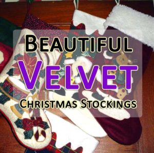 beautiful velvet christmas stockings