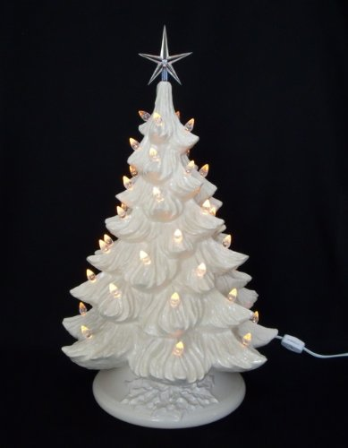 ceramic christmas tree and ornament lights