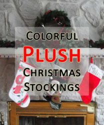 colorful plush christmas stockings
