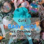 cute baby shoe tree ornaments for christmas