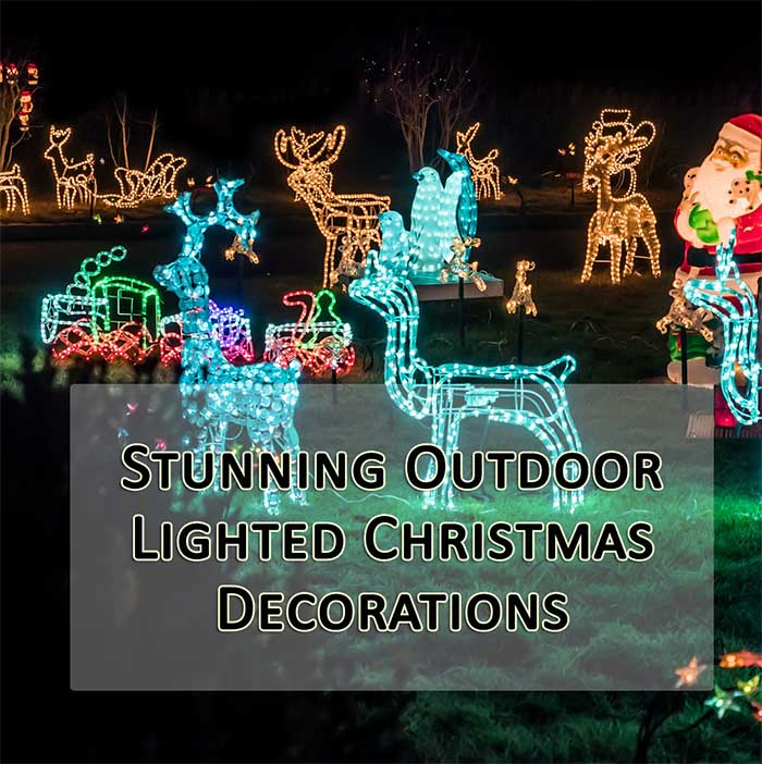 stunning outdoor lighted christmas decorations