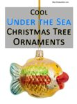 cool under the sea christmas tree ornaments