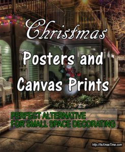 Christmas Posters and Canvas Art Prints for Small Spaces