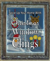 christmas window clings