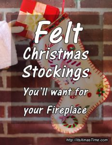 Felt Christmas Stockings for your Fireplace
