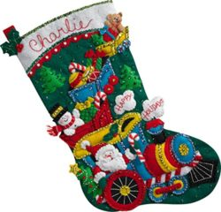 Adorable Bucilla Christmas Stocking Kits Are Fun to Make